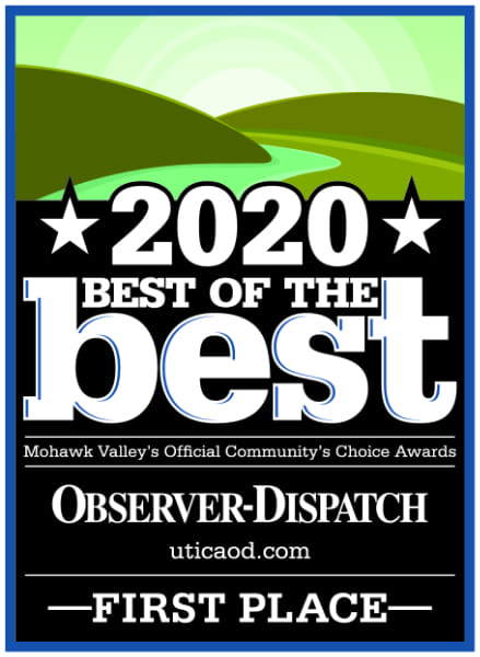2020 Best of the Best. Mohawk Valley's Official Community's Choice Awards. FIRST PLACE.
